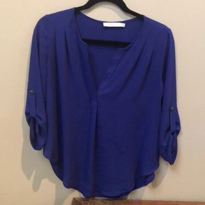 Lush Sheer Blue Blouse